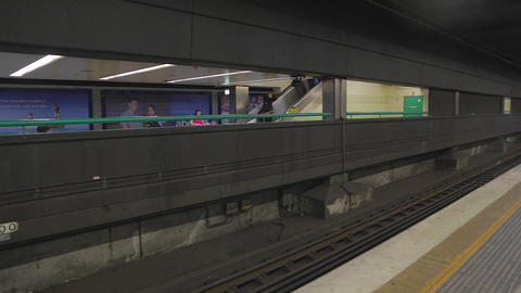 a pan at the sydney metro Footage