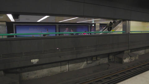 a pan at the sydney metro Stock Video Footage