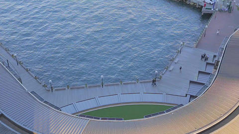 a birds eye view of the rocks promenade from the s Footage