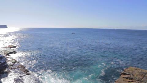 a pan of the coogee coastal walk to bondi beach Footage