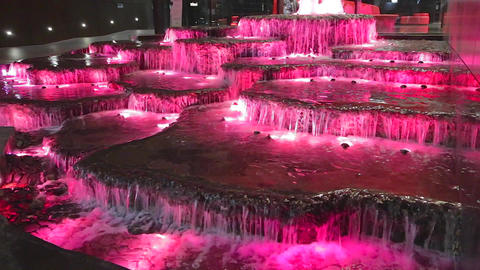 interesting neon colored waterfalls in sydney cbd Stock Video Footage