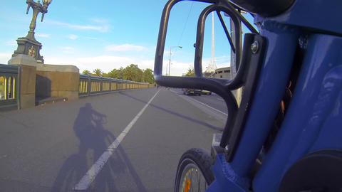 48 seconds first person perspective on a melbourne Stock Video Footage