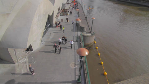 overhead cinematic dolly shot of south bank and ya Footage