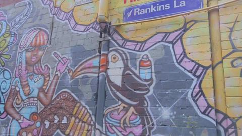 graffiti art on rankins lane Live Action