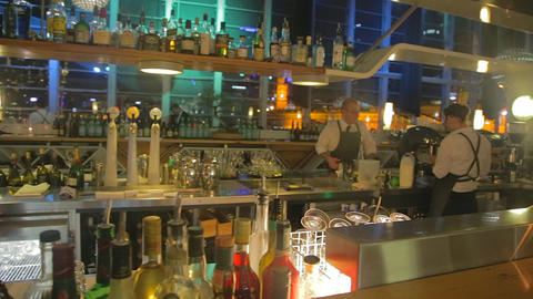 2 angles - chic melbourne bar near flinders street Footage