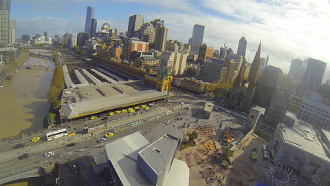 2 aerial angles - high above the yarra great view  Footage