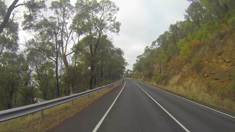 1 minute 37 secs sped up driving tour on the great Stock Video Footage