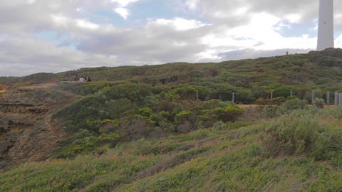 pan the of Cape Otway lightstation 2 Stock Video Footage