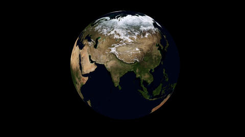 Rotating Earth Animation Stock Video Footage