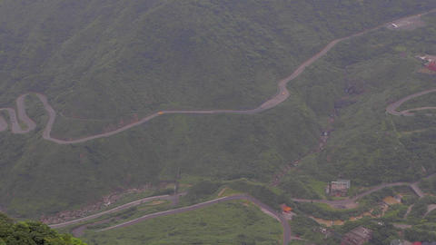 minute aerial view of cars from keelung mountain Footage