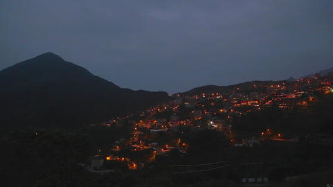 evening - town of jiufen Stock Video Footage