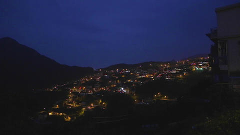 evening - town of jiufen 2 Footage