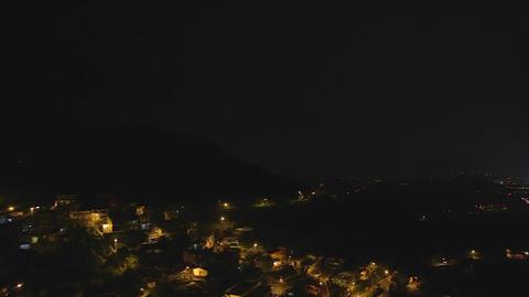 evening - pan jiufen coast 3 Footage