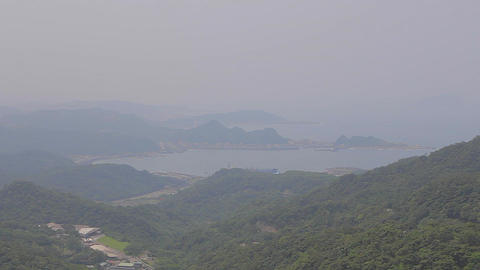 a clear view of the jiufen coastline Footage
