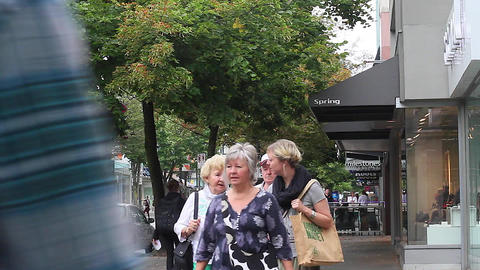 robson st - people walking Stock Video Footage