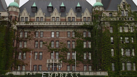 high to low angle - empress hotel Stock Video Footage