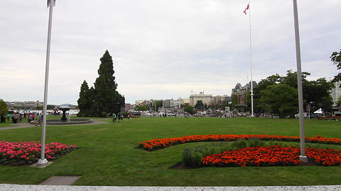 James bay area - from Parliament building Footage