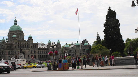 parliament building seen from the empress hotel Footage
