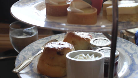 food at afternoon tea - at the empress hotel 2 Footage