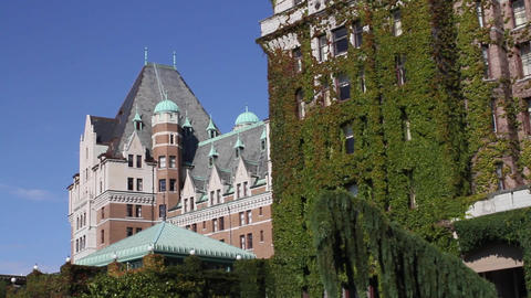 2 angles Fairmont empress hotel Stock Video Footage