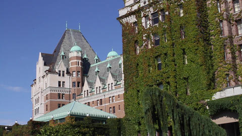 2 angles Fairmont empress hotel Footage