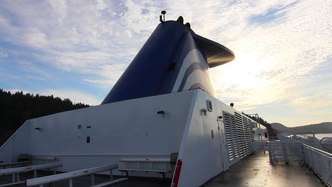 2 angles view of bc ferry Stock Video Footage
