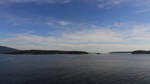 pan of view from bc ferry Footage