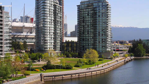 compilation of false creek & cambie bridge Footage