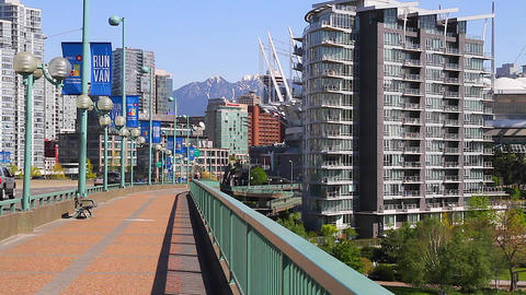 dolly shot - cambie bridge Footage