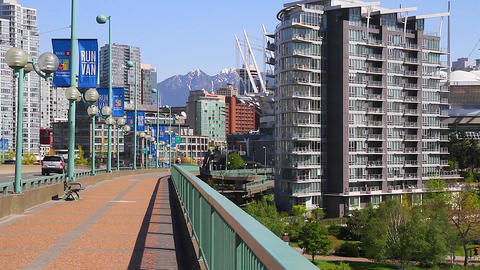 dolly shot - cambie bridge Stock Video Footage