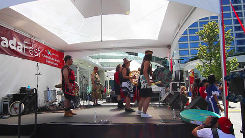 first nation performers at Canada fest Stock Video Footage