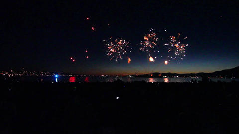 grand start of english bay fireworks 2012 Footage