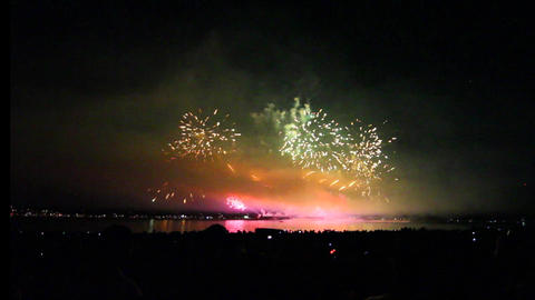 1min 37 secs - wide view english bay fireworks Live Action