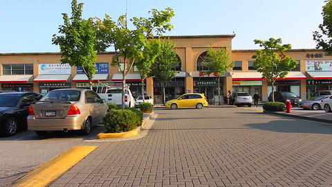 popular plaza in richmond - Continental Centre 2 Stock Video Footage