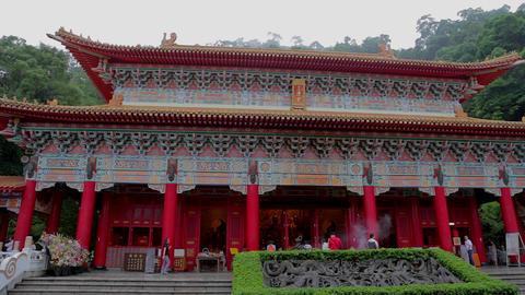 high - low tilt sanqing temple Footage