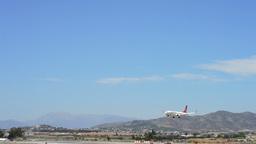 Big Airplane Landing In Airport stock footage