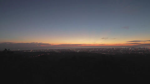 a wide angle pan at mount lofty viewpoint post aft Footage