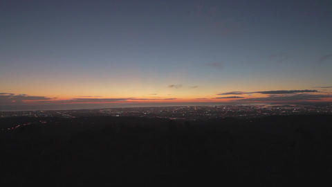 a wide angle pan at mount lofty viewpoint post aft Stock Video Footage