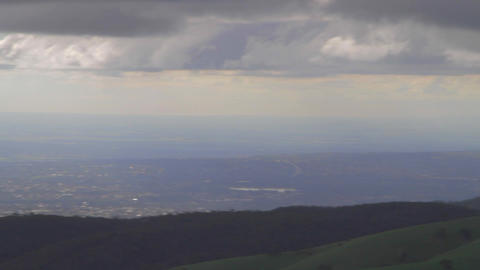 a beautiful pan of adelaide seen from the mount lo Stock Video Footage