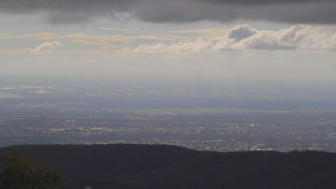 a beautiful pan of adelaide seen from the mount lo Footage