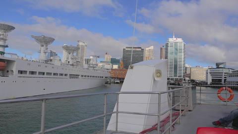 georgeous day - view of auckland downtown from a b Footage