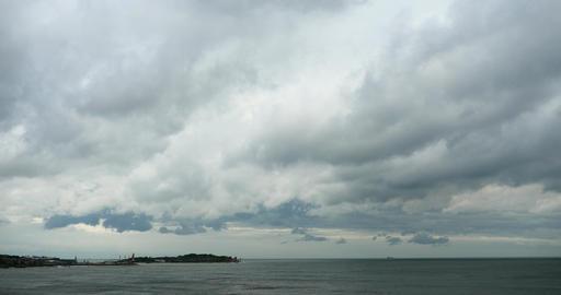 4k sparkling ocean sea water waves surface&coastal rock coast cloud cloudsca Footage