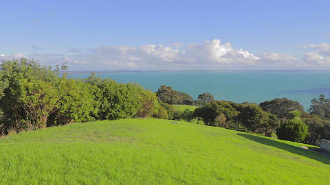 great view from a high hill on Waiheke Island Stock Video Footage