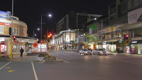 main intersection at Newmarket station, high end r Stock Video Footage