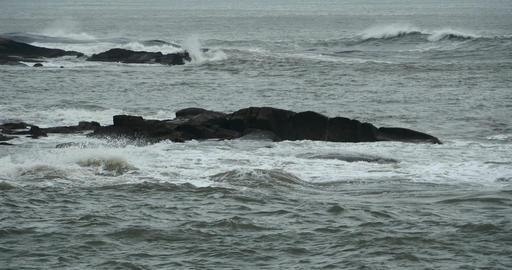 4k sparkling ocean sea water waves surface & coastal... Stock Video Footage
