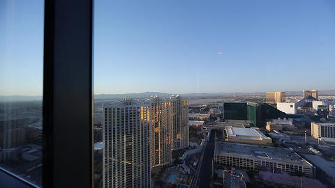 daytime - pan penthouse view of mgm grand Footage