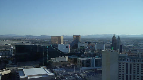 penthouse view - 2 angles of mgm hotel Stock Video Footage