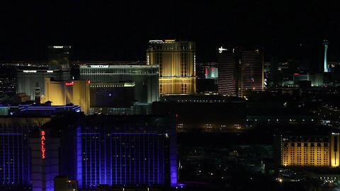 evening penthouse view of bally - 2 angles Stock Video Footage