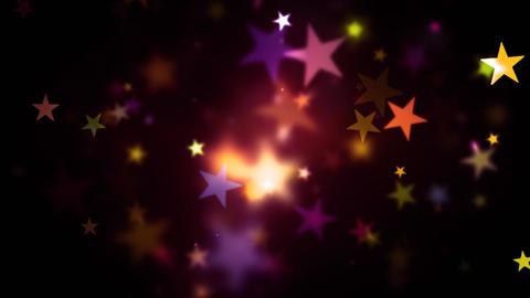 Colorful Warm Shining Stars Animation