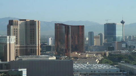 penthouse view of palazzo, wynn, and dolly shot of Footage